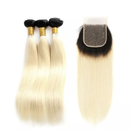 Blonde Wigs #1B/613. Straight or Body Wave Wig